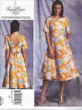 Vogue Sewing Pattern Misses' TRACY REESE Lined Dress fitted Bodice 6 -22 V1387