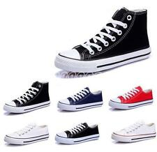 New Leisure Mens Canvas Sports Flat HIgh Top Lace Up Sneaker Student Shoes