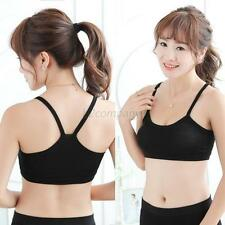 Women Athletic Sport Bandeau Bra Tube Top Yoga Vest Racerback Sleeveless Strap