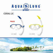 AQUA LUNG SPORT CORAL LX ADULT SNORKEL COMBO with MASK! SWIM SEA DIVE SNORKELING