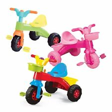 Dolu My First Ride Trike Kids Childrens Pink Orange Blue Outdoor Toys Pedal Horn