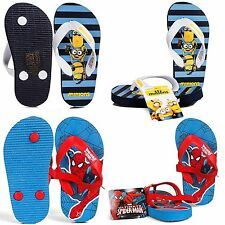 Spiderman and Minions Children Toe post Sandals Shoes Beach shoes Comic