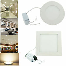 6W to 21W Dimmable LED Panel Recessed Ceiling Light Lamp Bulb Natural White