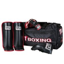 Title Boxing MMA Grappling Bundle with Gloves, Shin Guards and Groin Protector