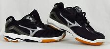 New Womens Mizuno Wave Rally 4 Volleyball Shoe Sneaker Black / Silver size 6