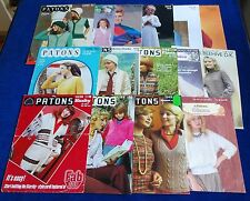 MULTI-LIST SELECTION OF VINTAGE PATONS WOMAN'S KNITTING PATTERNS
