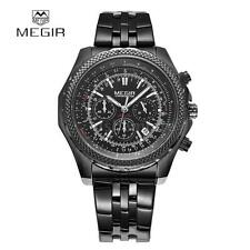 MEGIR Large Dial Quartz Watch Men Luxury Military Sport Watch Man Stopwatch J0T7
