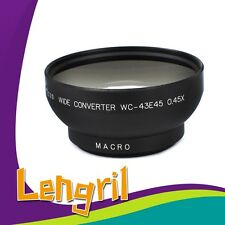 43mm 0.45X Wide Angle Lens with Macro For Canon Nikon Sony Panasonic Pentax