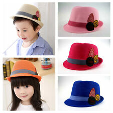 Baby Girl/Boy Toddler Cap Fedora Hat Jazz Cap Photography Cotton Trilby Top NE