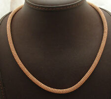Technibond Diamond Cut Ball Chain Necklace 14K Rose Pink Gold Clad 925 Silver
