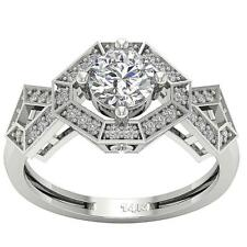 I1/G 1.20 Ct Round Diamond 14Kt Solid Gold Excellent Solitaire Wedding Ring Band