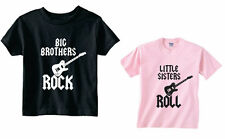 BIG BROTHERS ROCK LITTLE SISTERS  ROLL SET OF 2 BROTHER AND SISTER SHIRTS SIZES