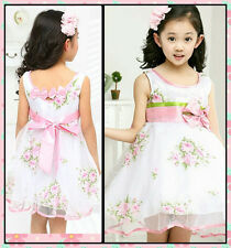 Girl Princess Wedding Pageant Party Flowers Girls Dresses SIZE 2,3,4,5,6,7,8,10