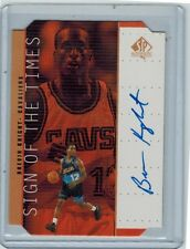 1998-99 SP AUTHENTIC BREVIN KNIGHT ON-CARD AUTO SIGN OF THE TIMES CAVALIERS
