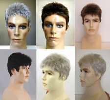 MENS MALE STRAIGHT SPIKY SHORT HAIR WIG DANNY HANDSOME DUDE COSTUME FULL WIG