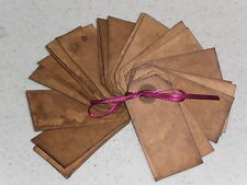 25 PriMiTivE OLdE GruNgY GruBBy StaiNeD MaNiLa HaNg TaG Gift PriCe Tag Gift Ties