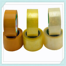 "Lot 12 Packing Carton Sealing Packaging Tape 2"" 110 Yds 330ft. Tan Clear 1.6 MIL"