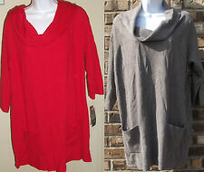 NWT Genuine INC INTERNATIONAL CONCEPTS 3/4 sleeve knit cowl neck sweater,size 2X