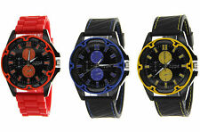 Jumbo Big Face Men's Watch with a Soft Rubber Band by Hype