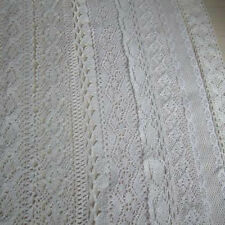 "5 Yards cotton crochet delicate lace trim 1"" 1 3/8"" 1.5"" 1 3/4"" Wewing Edging"