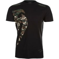 Venum Original Giant T-Shirt Jungle Camo Black MMA BJJ Grappling