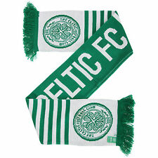 Celtic FC Official Knitted Football Crest Wordmark Scarf/Scarves