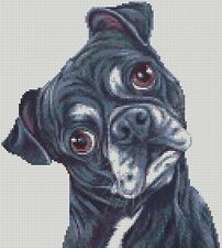 Cross Stitch Chart - Kit Black Pug Dog