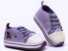 Infant Baby Purple First shoes Soft rubber sole Crib Shoes Newborn to 18 Months