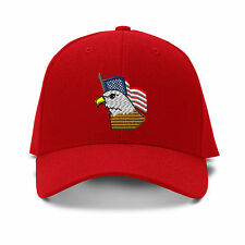 American Flag And Eagle Embroidery Embroidered Adjustable Hat Baseball Cap