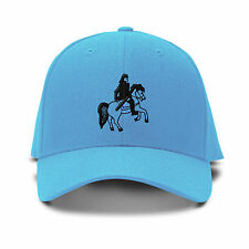 Horse Ride Embroidery Embroidered Adjustable Hat Baseball Cap