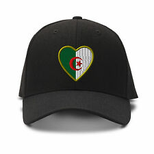 Heart Algeria Flag Embroidery Embroidered Adjustable Hat Baseball Cap