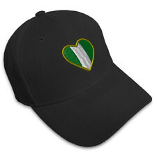 Heart Nigeria Flag Embroidery Embroidered Adjustable Hat Baseball Cap