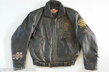 Harley Davidson Men's Vintage ORIGINAL 90's MOTORCRUISE Leather Jacket L RARE