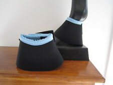 Horse Bell or Overreach Boots Black & Pale blue AUSTRALIAN MADE Protection