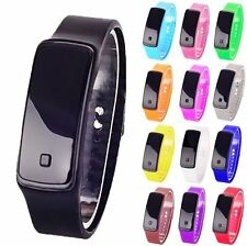 Ultra Thin Mens Watches UNISEX Sport Silicone Digital LED Wrist Watch Hot