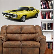 1972 Plymouth Road Runner Car WALL GRAPHIC FAT DECAL MAN CAVE BAR ROOM 47240