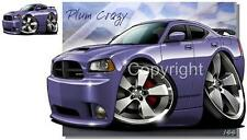 Dodge Charger SRT8 Plum Crazy Cartoon TSHIRT #9293T automotive car art