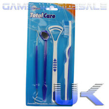 Dental Care Kit - Toothbrush Pick Mirror Tongue Cleaner - 4 in 1 Travel Set