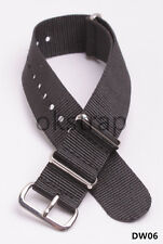 High quality Nylon Watch band watch strap black color 20mm 22mm available DW06