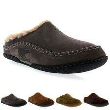 Mens Sorel Falcon Ridge Fur Lined Slip On Mules Warm Winter Slippers US 8-13