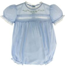Infant Girls Blue Dressy Heirloom Bubble Outfit Lace Trim Feltman Brothers