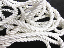 White Thick Twisted jumbo cord PER METRE  Rope fabric sewing upholstery trimming