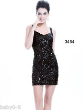 Sexy High Stretch Black Sequins NWT Mini Cocktail Party Dress Woman clothes