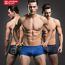 Superbody Men Sexy Faux Denim Underwear Front Flying Male Boxers Underpants XL