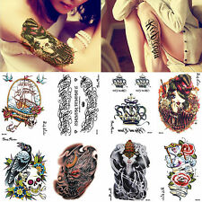 Multiple Styles Waterproof 3D Large Arm Leg Temporary Tattoos Transfer Stickers