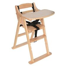 New Safetots Putaway Folding Wooden Highchair 3 Colours Baby High Chair