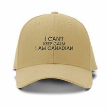 I Can'T Keep Calm I Am Canadian Embroidered Adjustable Hat Baseball Cap