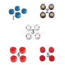 Set of 4pcs Acrylic Electric Guitar Control Knobs w/ Dials Speed Knobs 4 Colors