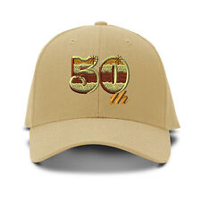 50Th Anniversary Embroidery Embroidered Adjustable Hat Baseball Cap
