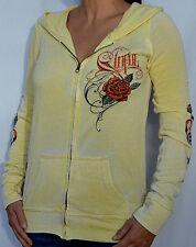 Sinful by Affliction SAGE Woman's Zip Hoodie Sweatshirt - NEW - S2241 - Yellow